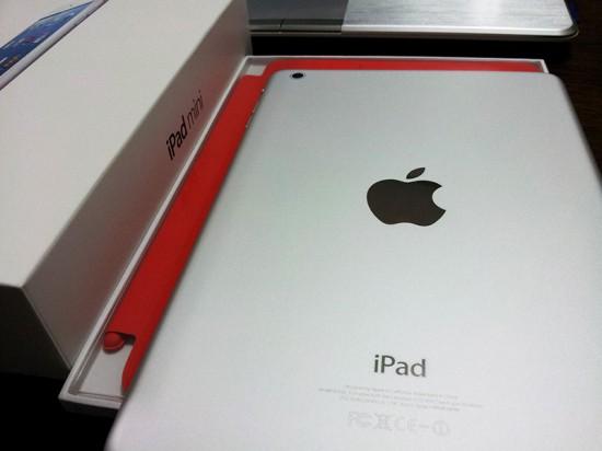 箱から出したiPad mini