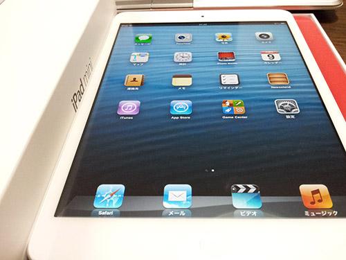 iPad miniの初期画面