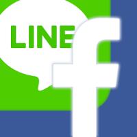 facebook、LINE